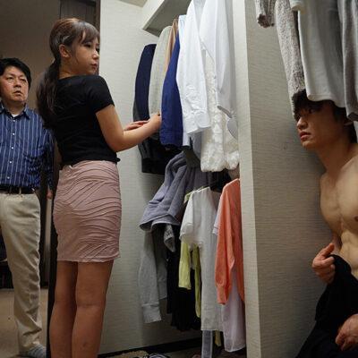 旦那がリモート会議中の30分間、着衣巨乳で誘惑してくる隣人妻と時短浮気セックス 我妻里帆-7